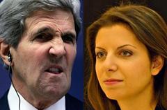 Слабые нервы госсекретаря...  Главный редактор RT Маргарита Симоньян ответила Джону Керри на его обвинения в адрес телеканала