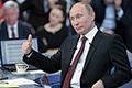 Россияне назвали Человеком года Владимира Путина... Это звание президенту России присвоили 57% сограждан, что стало рекордным показателем